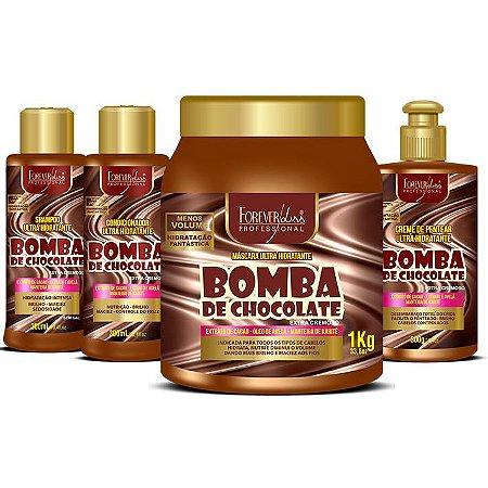 Forever Liss Bomba de Chocolate Kit com Máscara 1kg (4 itens)