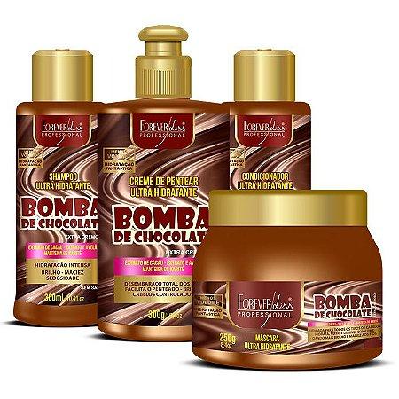 Forever Liss Bomba de Chocolate Kit com Máscara 250g (4 itens)