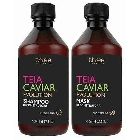 Three Therapy Teia Caviar Reconstrutor Kit 2x500ml