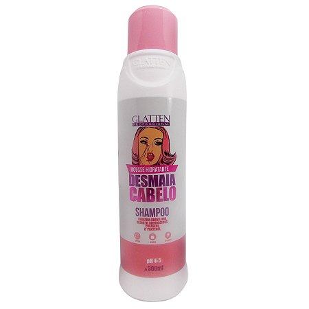 Glatten Desmaia Cabelo Mousse Hidratante Shampoo 300ml