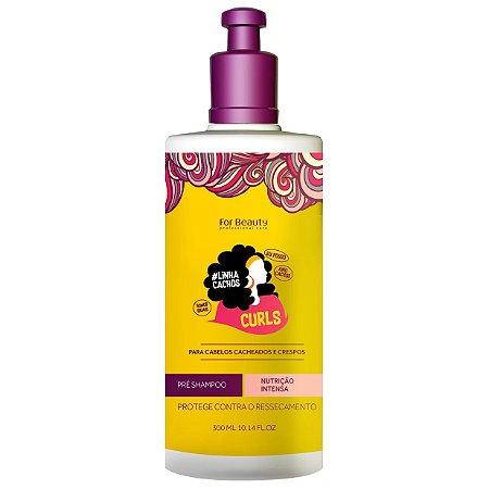 For Beauty Linha Cachos Curls Pré Shampoo 300ml