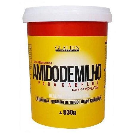 Glatten Amido de Milho para Cabelos Realinhamento Natural 930g