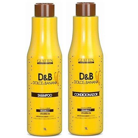 Glatten Dolce & Banana Shampoo e Condicionador kit 2x1l