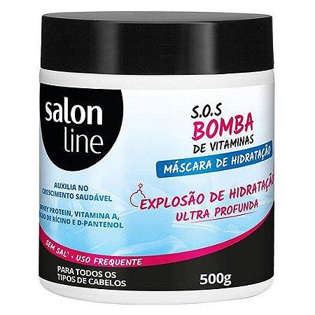 feeaff763 Salon Line SOS Bomba Explosão de Hidratação Profunda Máscara 500g