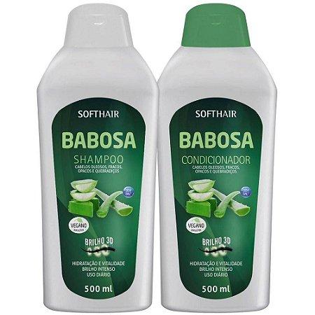 SoftHair Babosa Shampoo e Condicionador 2x500ml