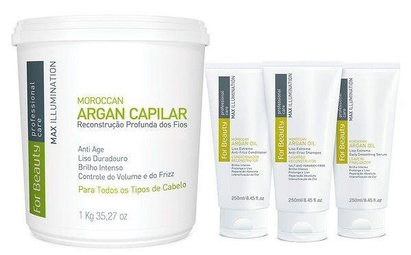 For Beauty Argan Capilar Max Illumination com Manutenção - 4 itens