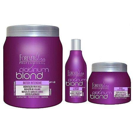 Forever Liss Platinum Blond - Kit Loiras Poderosas (3 itens)