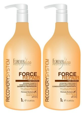Forever Liss Force Repair Shampoo e Condicionador Hidratante (2x1L)