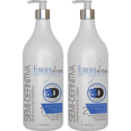 Forever Liss Escova Semi Definitiva Power 3D System  (2x1000ml)