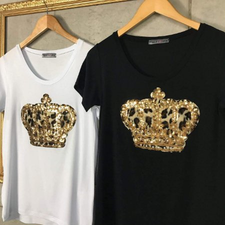 T-Shirt Coroa Pérolas