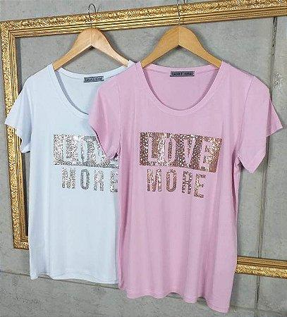 Camiseta T-Shirt Feminina Love More