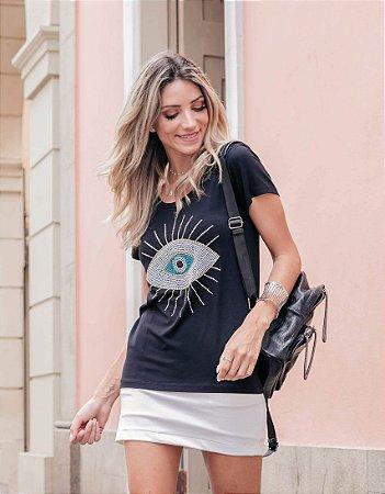 Camiseta T-Shirt Feminina Olho Grego Ouro