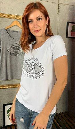 T-Shirt Olho Grego Prata