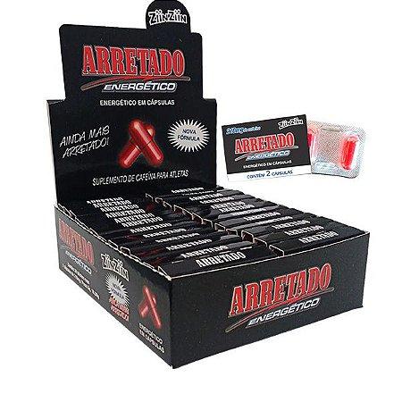 Display Arretado Cafeína contem 24 blister com 2 capsulas.