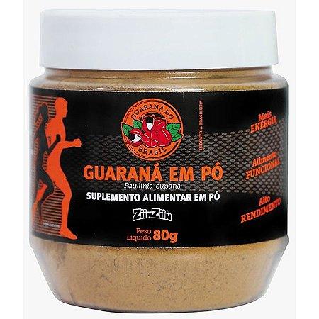 Guarana em Pó - pote com 80g