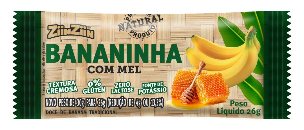 Bananinha com Mel  4 Unidades de 26g cada
