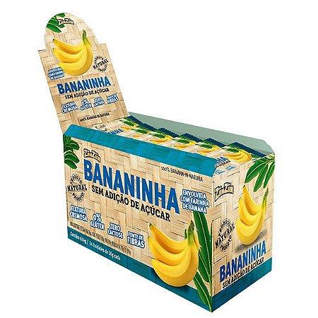 Display Bananinha sem adição de açúcar - Contem 24 unidades com  26g cada