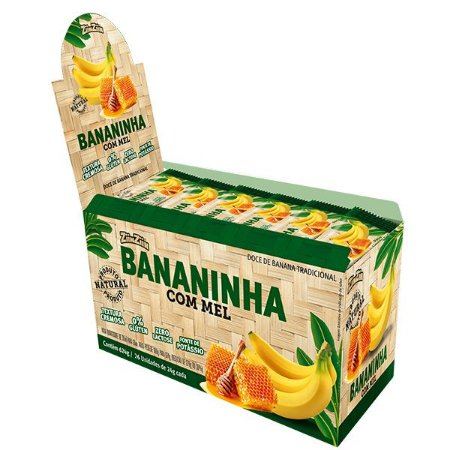 Display  Bananinha com Mel - contem 24 Unidade de 26g cada