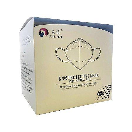 Máscara Proteção Facial KN95 Clip Nasal 50 unidades