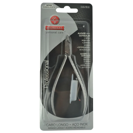 Alicate Inox Para Cutícula - Mundial C772