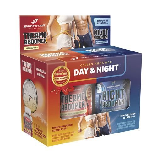 COMBO ABDOMEN DAY & NIGHT - 60/60 CÁPSULAS - BODY ACTION