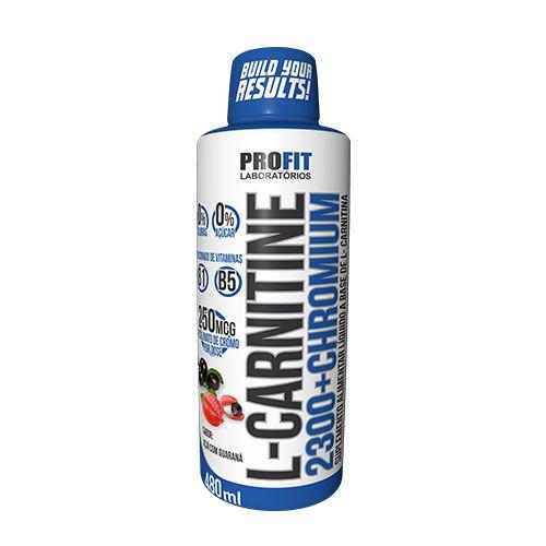 L-CARNITINE 2300 CHROMIUM 480ML - PROFIT LABORATÓRIOS