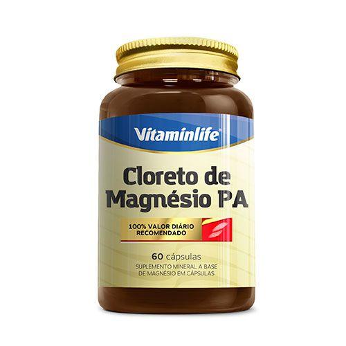 CLORETO DE MAGNÉSIO P.A. - 60 CÁPSULAS - VITAMIN LIFE