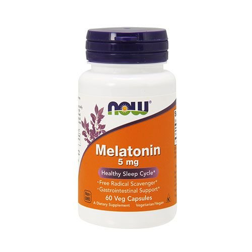 MELATONIN 5MG - 60 CÁPSULAS - NOW FOODS