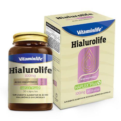 HIALUROLIFE 100MG - 30 CÁPSULAS - VITAMIN LIFE