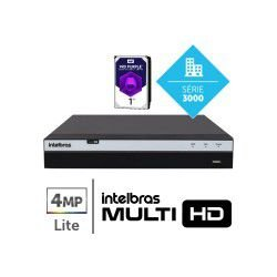 Dvr Intelbras Multi Hd 04 Ch Mhdx 3104 Full Hd C/ Hd 1tb
