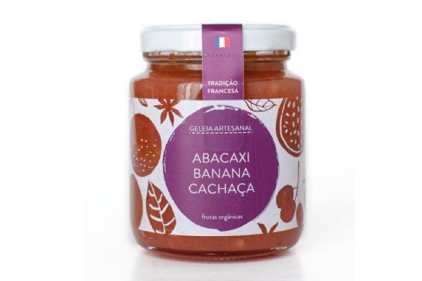 Geleia de Abacaxi, Banana e Cachaça - Douceur do Céu