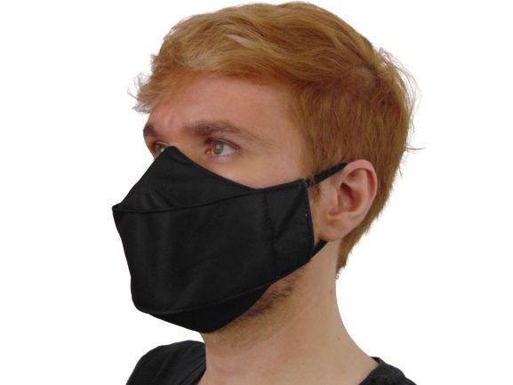 Máscara Antiviral Hematita, modelo 3D, Delfim Protect, dupla camada, fácil respiração