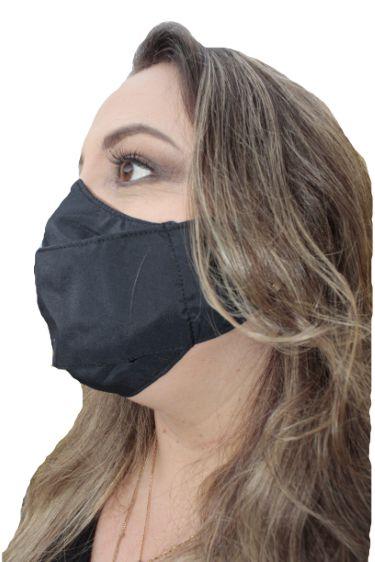 Máscara Magnetita, Antiviral de efeito Permanente, modelo 3D, dupla camada