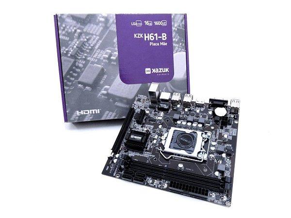 PLACA MAE KAZUK LGA 1155 H61 DDR3 16GB HDMI