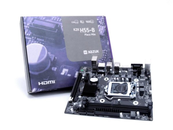 PLACA MAE KAZUK LGA 1156 H55 DDR3 8GB HDMI