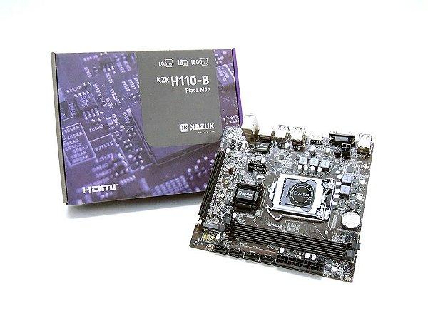 PLACA MAE KAZUK LGA 1151 H110 DDR3 16GB HDMI KZKH110-B
