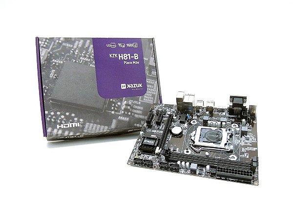 PLACA MAE KAZUK LGA 1150 H81 DDR3 16GB HDMI