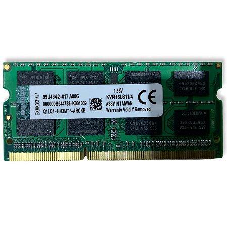 MEMÓRIA NOTEBOOK DDR3L 4GB KINGSTON