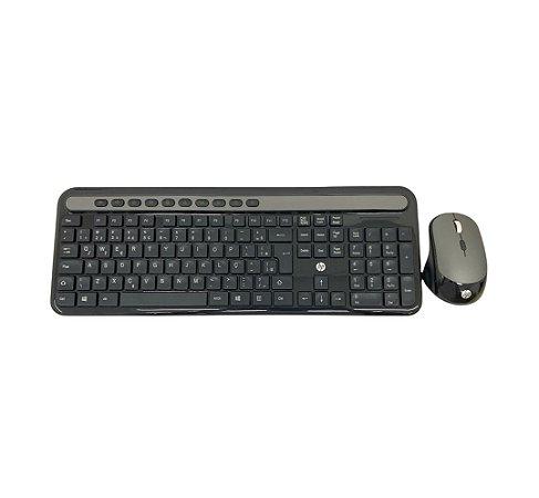 KIT TECL+ MOUSE HP CS500 PRETO - SEM FIO
