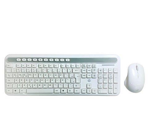 KIT TECL+ MOUSE HP CS500 BRANCO - SEM FIO