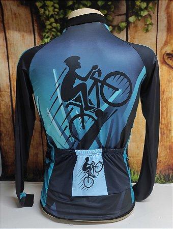 Camisa Ciclista Unissex Brasil, Ziper total - 0CAM1500-TSP001