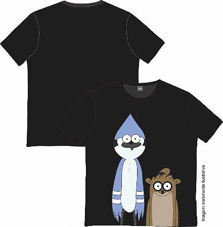 Camiseta Cartoon - Mordecai e Rigby