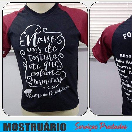 Camiseta Formandos - Nove anos de tortura, até que enfim, formatura