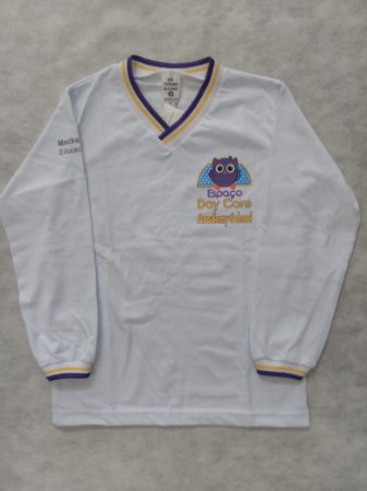 Camiseta manga longa branca, Academy School