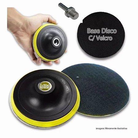 Suporte para parafusadeira furadeira lixadeira 4 polegadas com velcro. pad com velcro 125mm
