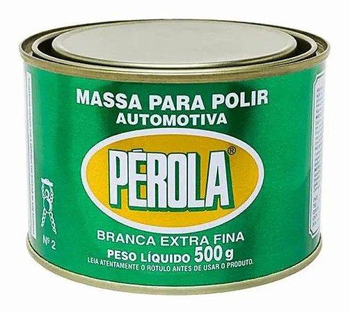 Massa Polir Pérola N°2 Extra Fina 300g Branca 300 Gramas
