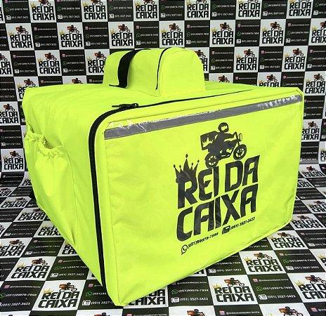 Mochila 89 litros amarelo neon - comporta embalagem até 50cm