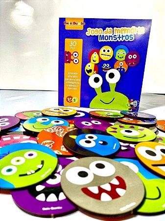 Jogo da Memoria Monstros 3+
