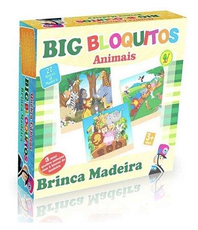 Quebra Cabeça Big Bloquitos Animais 3+