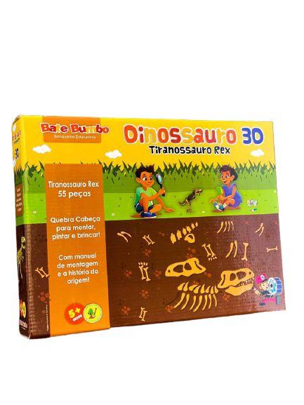 Dinossauro 3D - Tiranossauro 3D 5+